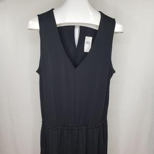 NWT BR Black Jumpsuit Sleeveless V-Neck
